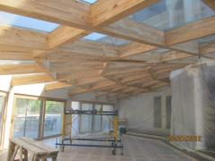 Installation of wooden designs