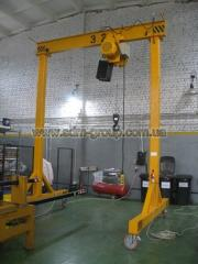 Cranes, railway hand cars and other railway weight lifting equipment