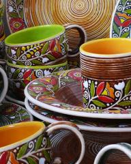 посуда в украинском стиле