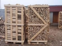 Firewood chipped in boxes Ukraine