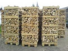 Firewood dry chipped from the producer the price