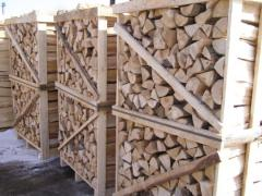Firewood chipped for expor