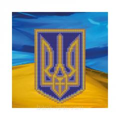 Schemes for beadwork the Coat of arms of Ukraine