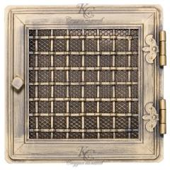Решетка каминная Стильная Золотая Платина 21*21
