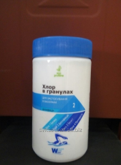 Chemistry for pools Chlorine in granules of 1 kg