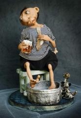 "Author's doll ""The dreaming seaman"