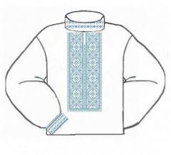 Заготовка мужской сорочки-вышиванки ВМЛ-005