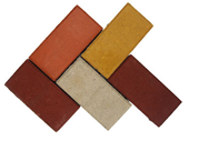 Кирпич цветной, толщина 30 мм, тротуарная плитка,