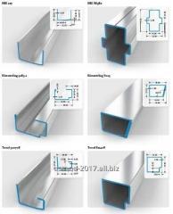Металлическая основа оконного и рамного профиля. Профили оконные.