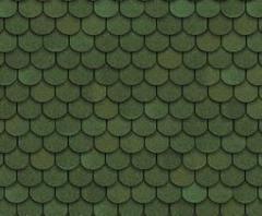Tile bituminous Shinglas of the Tango green