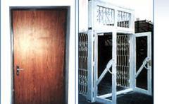 Двери металлические, ворота гаражные