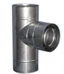 Tee 87 ° d=60/100 coaxial of stainless steel