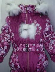 Комбинезон зимний для девочки от производителя