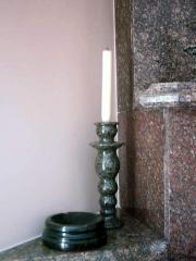 Candlesticks from granite and a natural stone