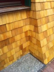 Wooden gontovy facades