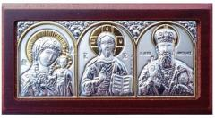 Icons automobile Three Saints Greek with silver