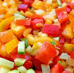 The vegetables frozen from the producer. Export is
