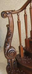Handrail is carved, the Handrail carved under the