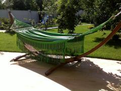Hammocks, hammocks a framework wooden, a framework