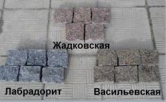 The stone blocks is chipped, the Ukrainian fields