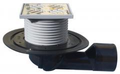HL80 Трап для террас и балконов с поворотным шарниром, D50/75