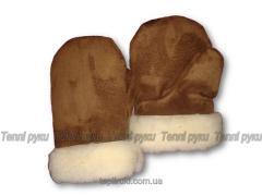 Mittens half-woolen of dubbing-in