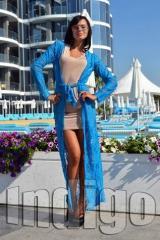 Платье 7136 универсал С-Л масло гипюр три цвета