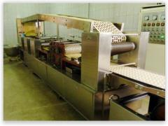 Automatic line for production of long cookies with