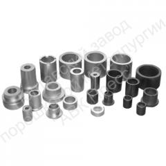 Antifrictional products, details, production,