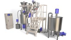 Automatic system of dispensing and mixing