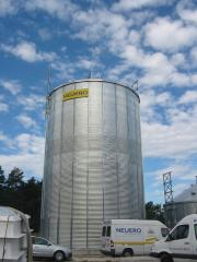 Metal the silo for storage grain and pellet with