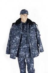 Pea jacket wadded camouflage (mekh.vorotnik) with