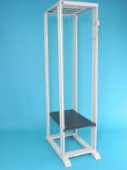Open rack double with a support 45U, server 800 mm