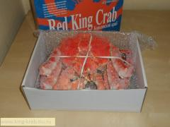 Crab the Kamchatka royal whole in oil