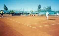 Теннисит, тенниситная крошка цветная (красная)