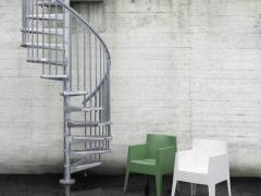 Винтовая лестница Arke Fontanot Steel Zink D 140