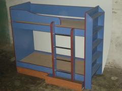 2-х ярусная кровать цветная