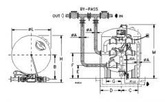 Фланцевый фильтр HI-FLO 6 Модель UU 84