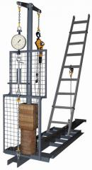 Stands for test of slings, ladders, assembly belts