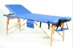 Деревянный 3-х сегментный стол для массажа