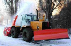 The snowplow is frezernorotorny. Snow blower