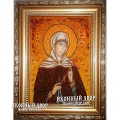 Икона Агриппина из янтаря, Украина  Код товара: