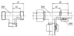 Соединение тройниковое XT серия L 160 бар Ø трубы