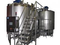 System of circulating sink of milk plan