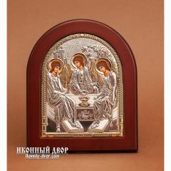 Святая Троица - Икона Из Греции С Серебром И