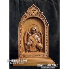 Icon Saint Michael the Archangel, Carved Wooden