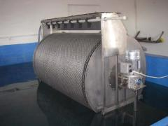 Mechanical drum self-washing filter 100 of m3/h