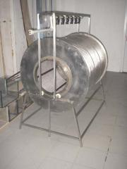 Mechanical drum self-washing filter 15 of m3/h