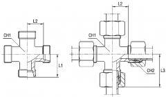 Соединение резьбовое XK серия LL Ø трубы 8