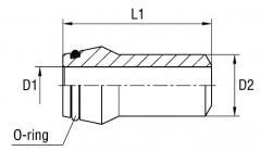 Nipple of welded SKA L/S series of 400 bars